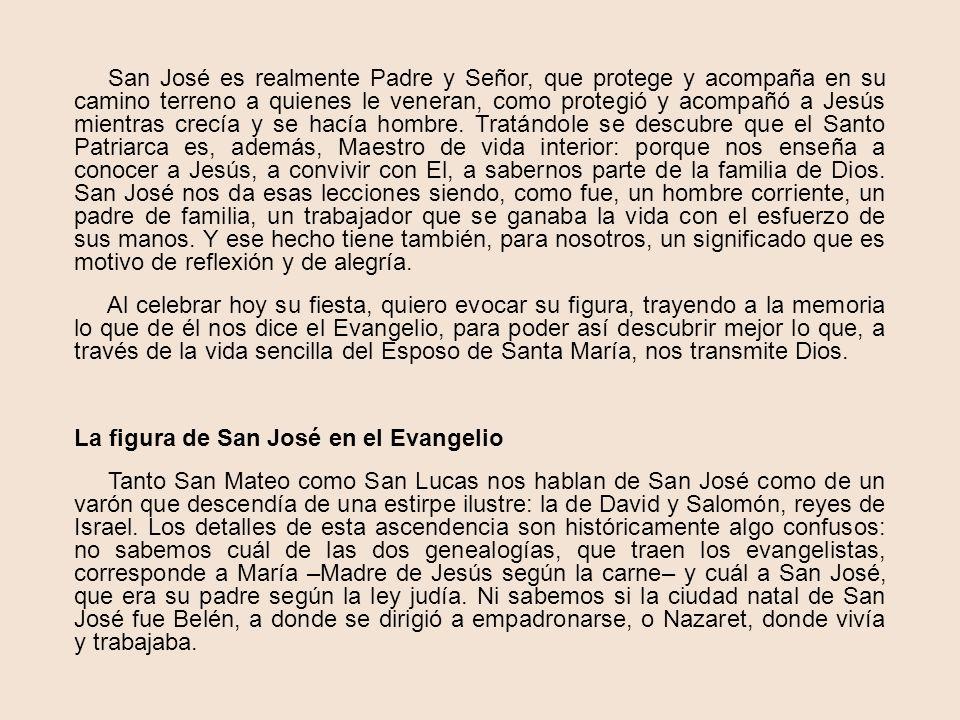 EN EL TALLER DE JOSE Homilía pronunciada por Monseñor Escrivá el 19 de Marzo de 1963. Se contiene en el volumen Es Cristo que pasa La Iglesia entera r