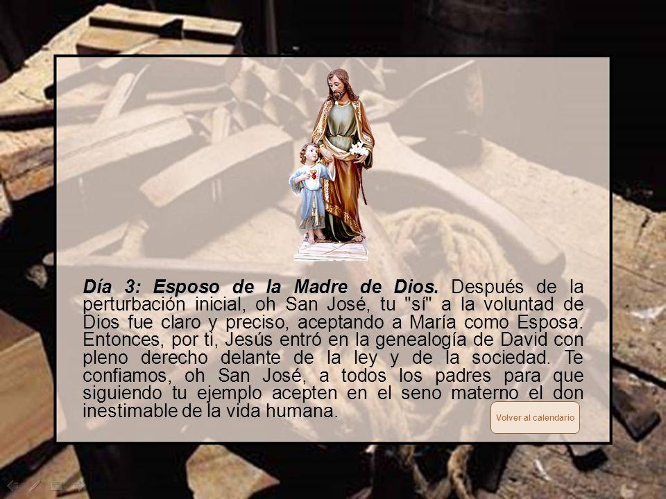 Día 2: Custodio de Jesús. Día 2: Custodio de Jesús. Durante la vida terrena de Jesús, tú, oh San José, no te has preocupado de hacer cosas grandes sin