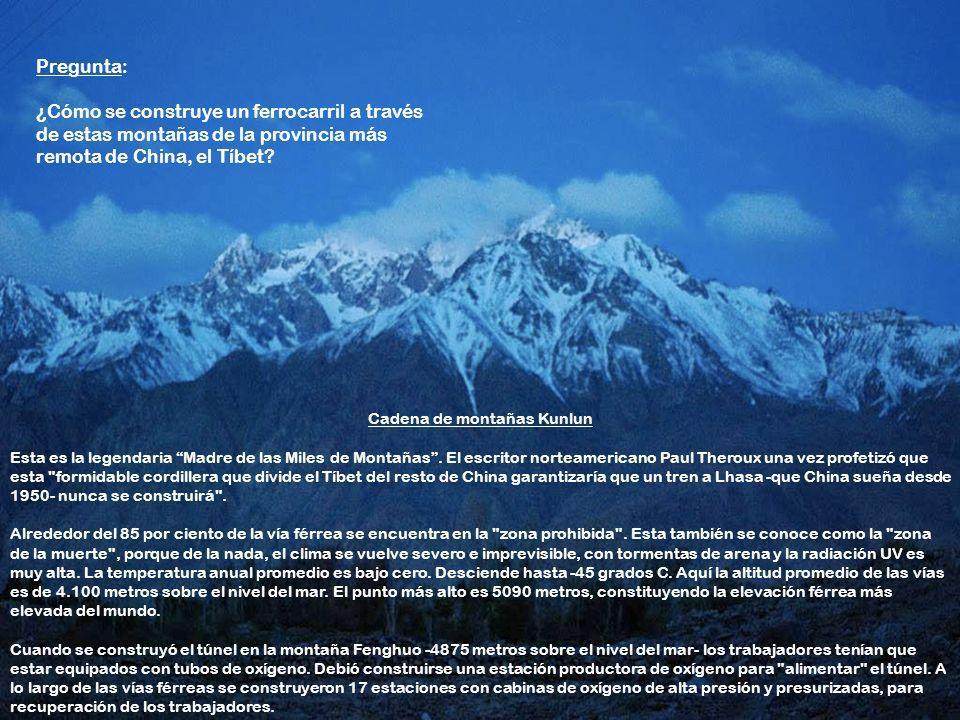 Cadena de montañas Kunlun Esta es la legendaria Madre de las Miles de Montañas.