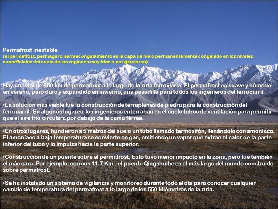 Había que escalar casi 5200 metros de altura en las montañas, 12 kilómetros de amplios valles para hacer puentes, cientos de kilómetros de hielo peren