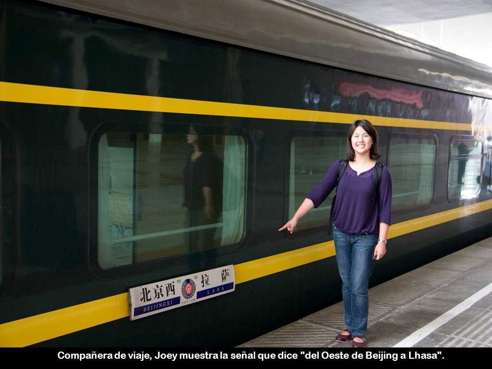 La longitud total del ferrocarril Qingzang es 1956 km.