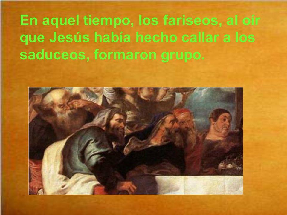 El evangelio de este domingo está tomado del evangelista san Mateo, como es normal en el ciclo A. Mt 22, 34-40 Y dice así: