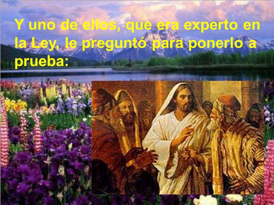 Lo característico de Jesús es cómo lo une con el amor a Dios.