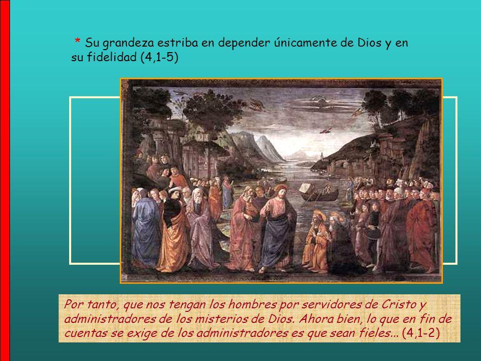 ¿Qué es, pues Apolo? ¿Qué es Pablo?... ¡Servidores, por medio de los cuales habéis creído!, y cada uno según lo que el Señor le dio... (3,5) 3) CAUSA