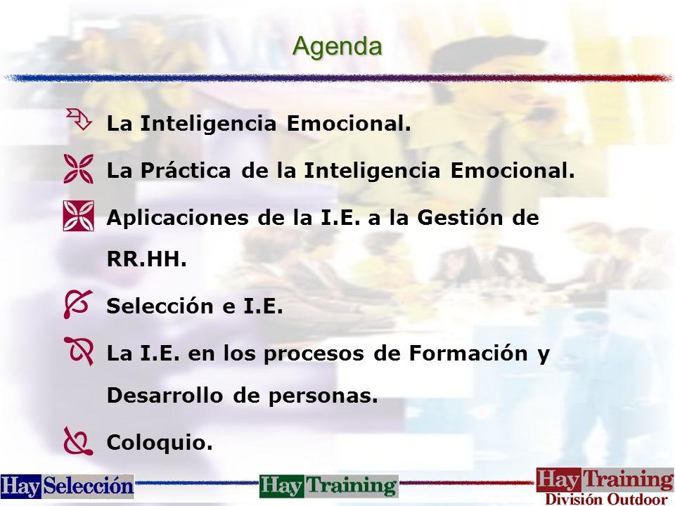 Agenda Ê La Inteligencia Emocional. Ë La Práctica de la Inteligencia Emocional. Ì Aplicaciones de la I.E. a la Gestión de RR.HH. Í Selección e I.E. Î