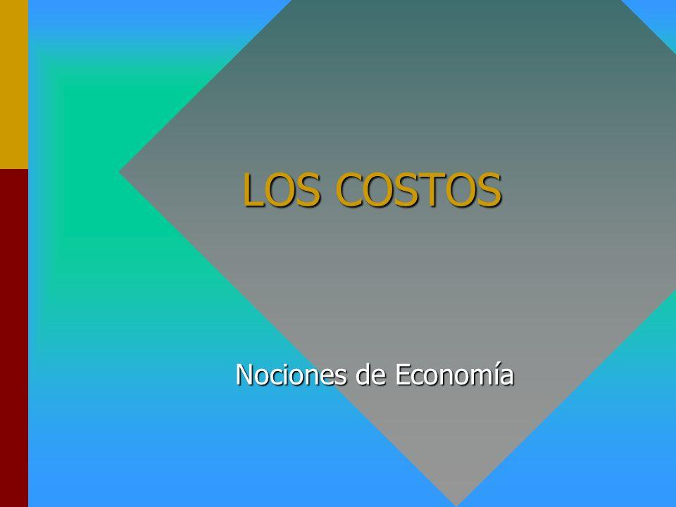 LOS COSTOS Nociones de Economía