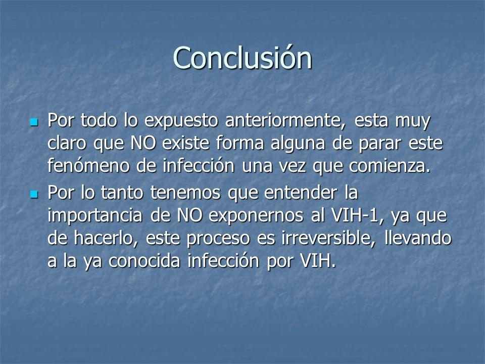 Conclusión Por todo lo expuesto anteriormente, esta muy claro que NO existe forma alguna de parar este fenómeno de infección una vez que comienza. Por