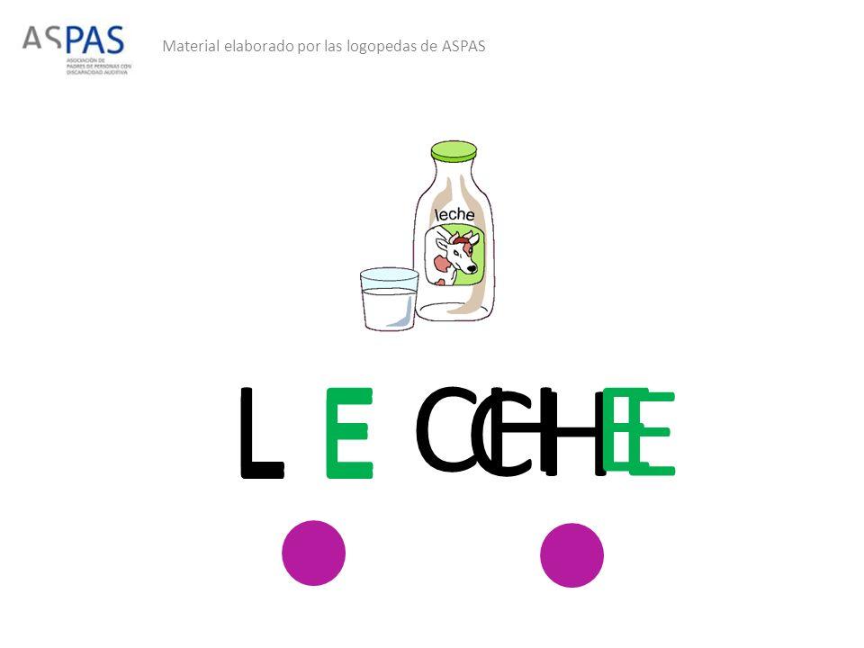 Material elaborado por las logopedas de ASPAS L E CHE L E CH E