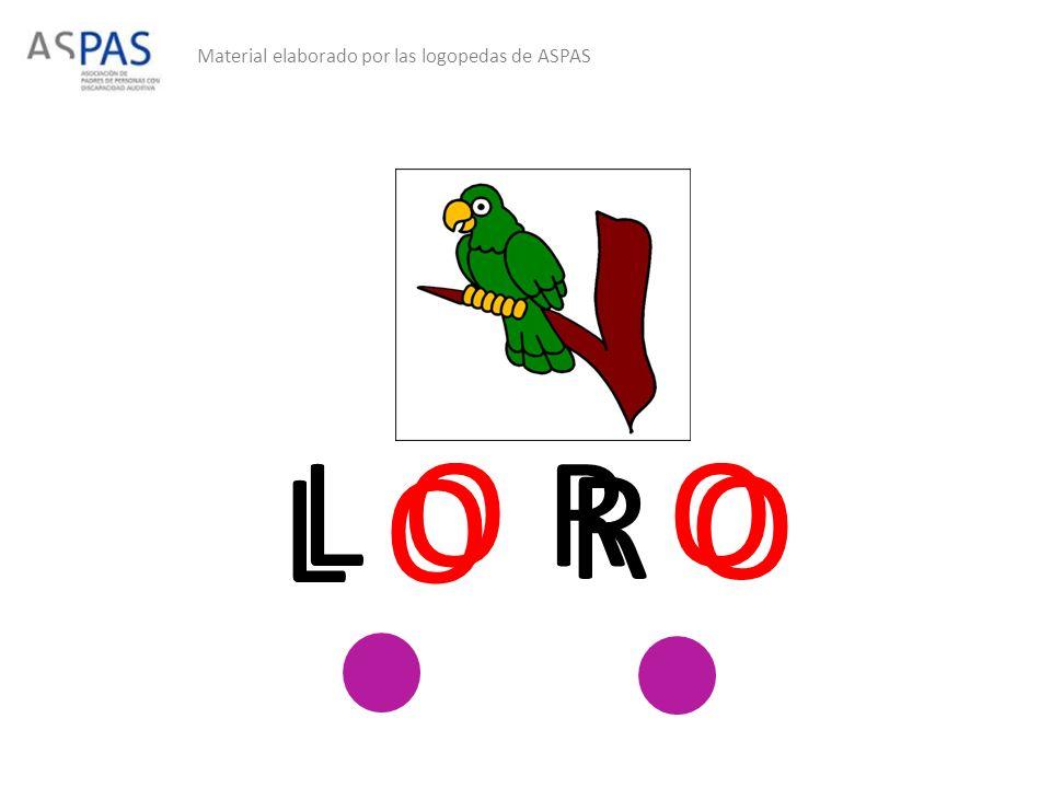 Material elaborado por las logopedas de ASPAS L O R O L O R O