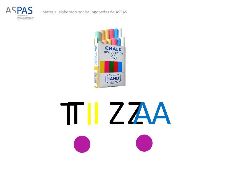 Material elaborado por las logopedas de ASPAS T I Z AZ AT I Z A