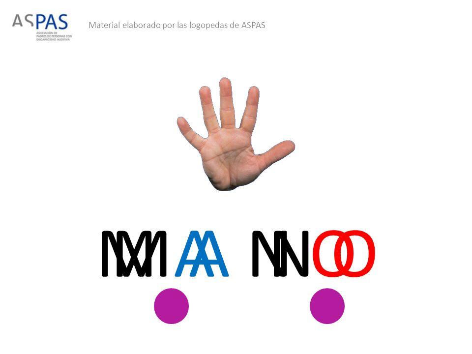 Material elaborado por las logopedas de ASPAS M AN OM A N O