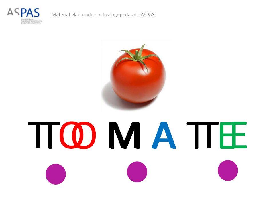 Material elaborado por las logopedas de ASPAS T OT E T O M A T E M A