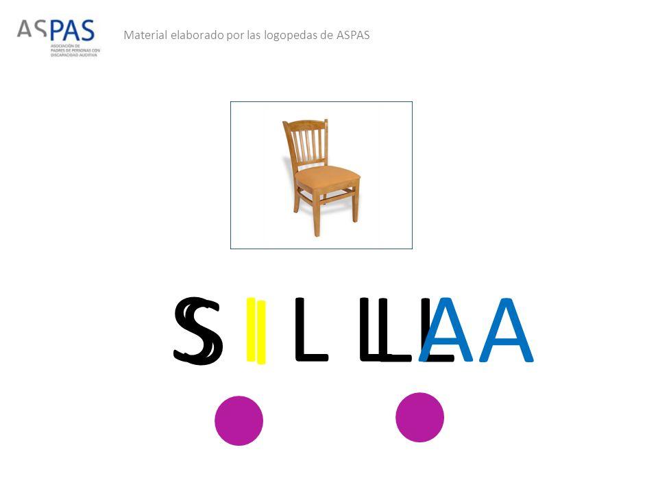 Material elaborado por las logopedas de ASPAS S I LL A S I L L A