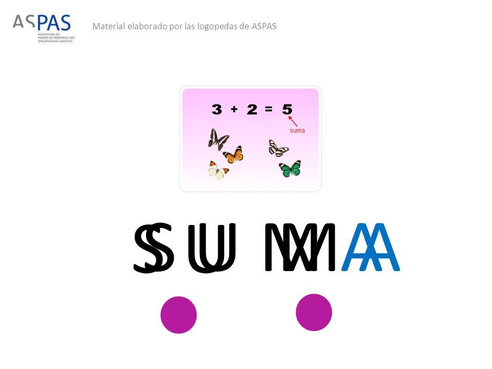 Material elaborado por las logopedas de ASPAS S U M AS U M A