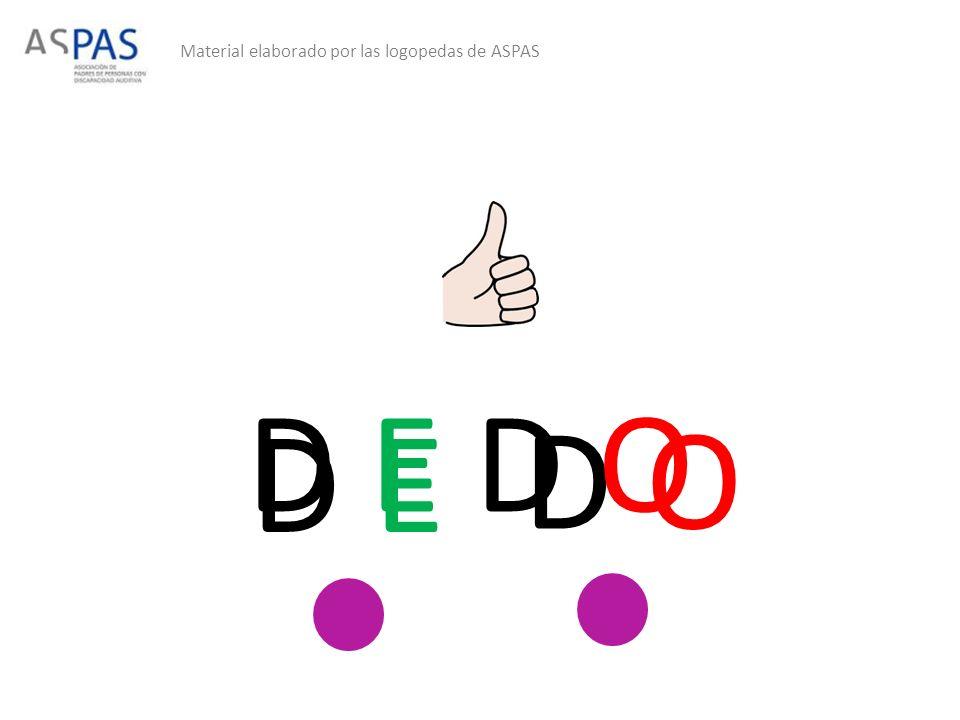 Material elaborado por las logopedas de ASPAS D E D O D E D O