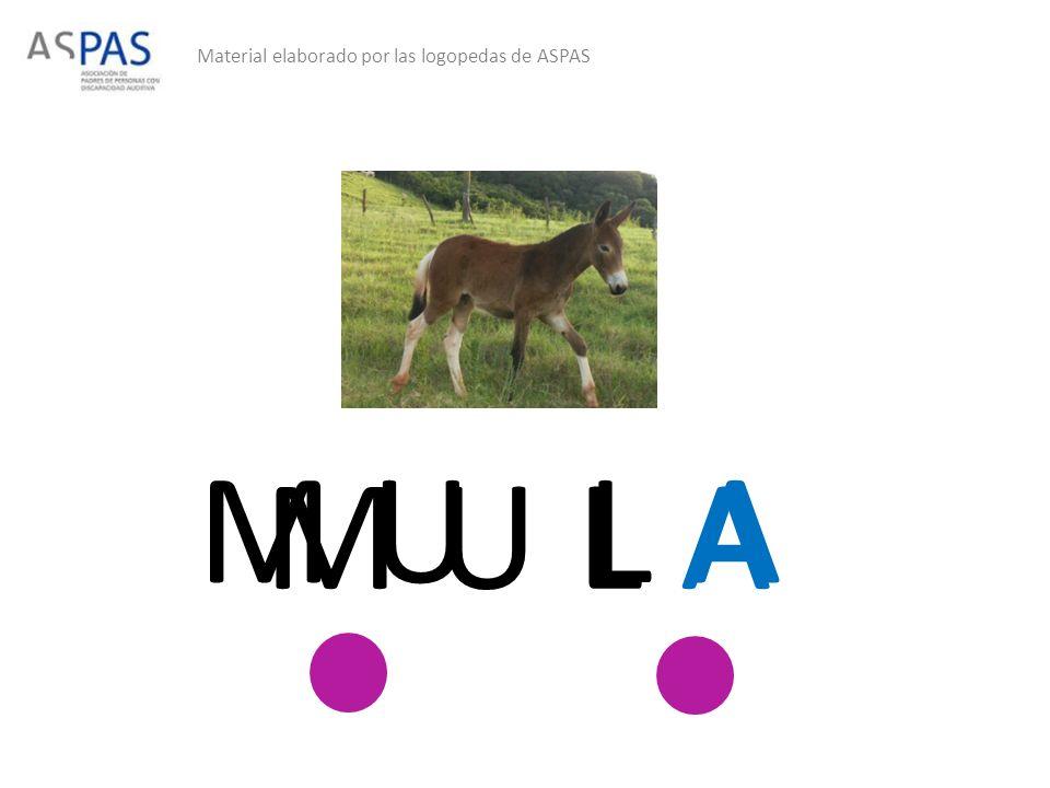 Material elaborado por las logopedas de ASPAS M UL A M U L A
