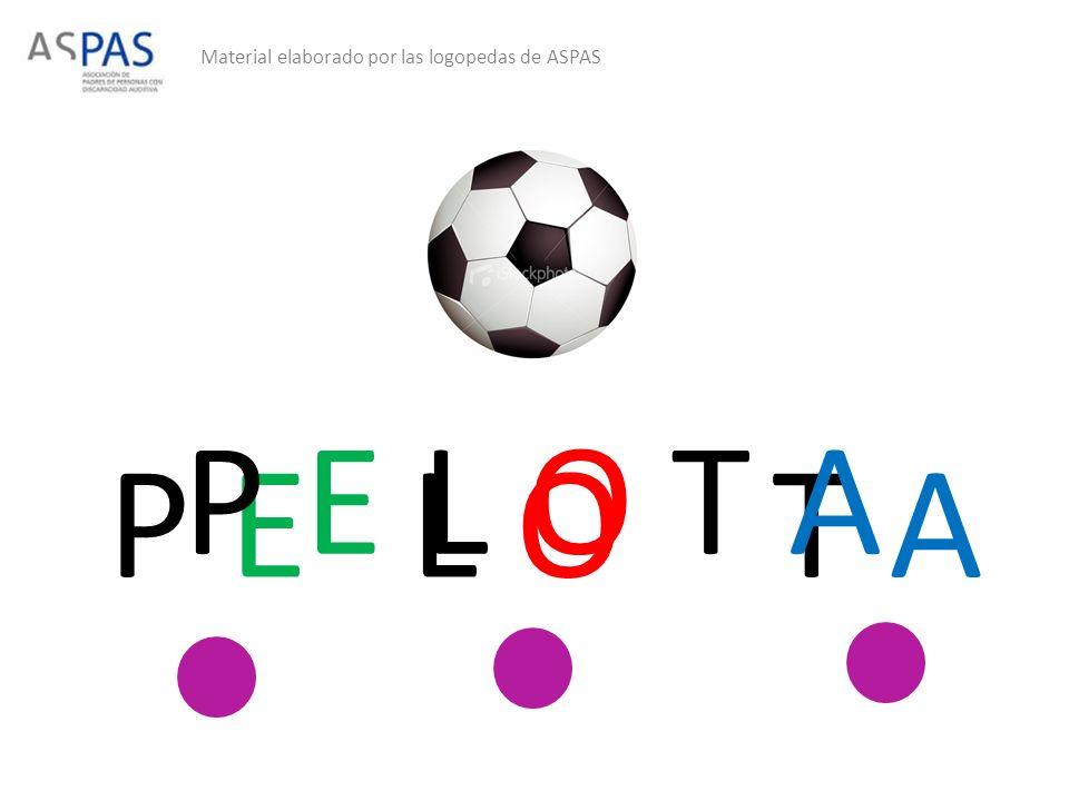Material elaborado por las logopedas de ASPAS P ET A P E L O T A L O