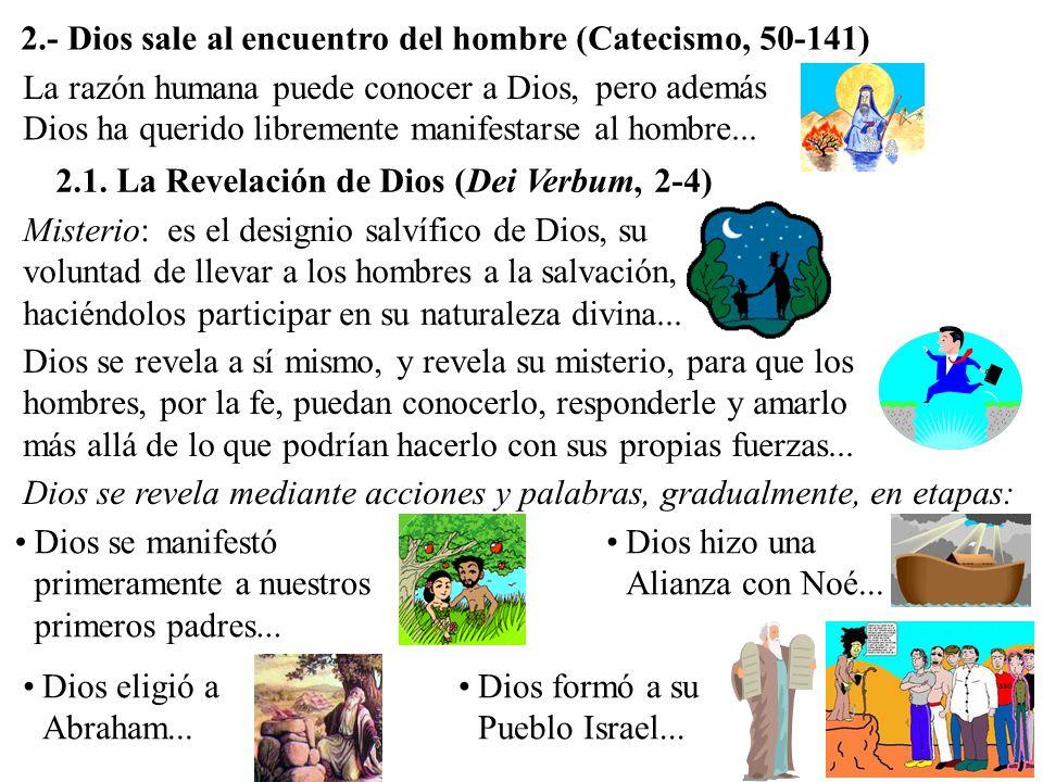 2.- Dios sale al encuentro del hombre (Catecismo, 50-141) 2.1.