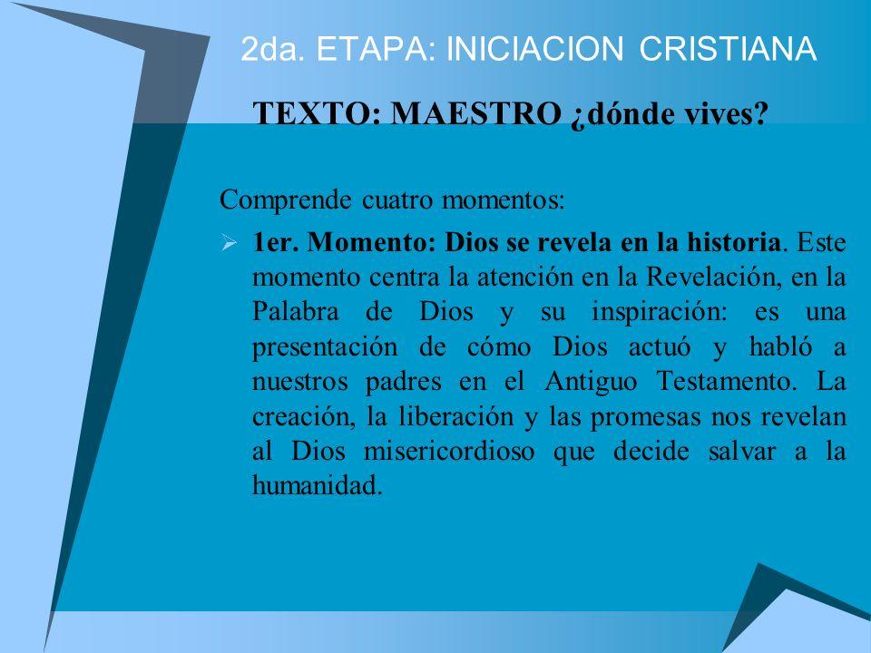 1ra. ETAPA: KERIGMATICA Del anuncio de Jesucristo vivo a la conversión Su objetivo es: lograr el encuentro con Jesucristo vivo mediante una Evangeliza