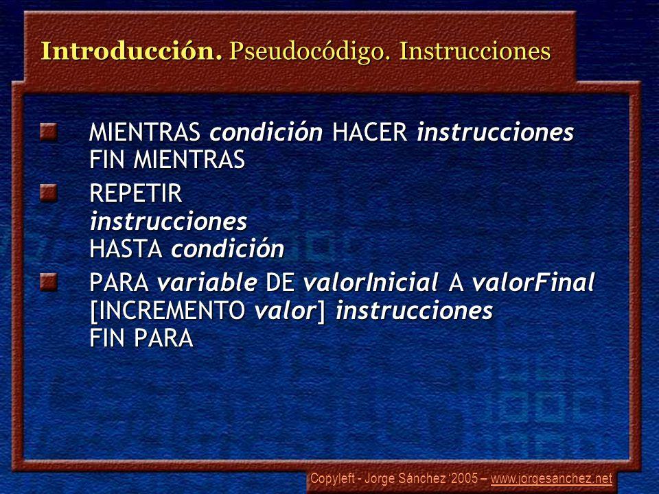 Copyleft - Jorge Sánchez 2005 – www.jorgesanchez.netwww.jorgesanchez.net Lenguajes.
