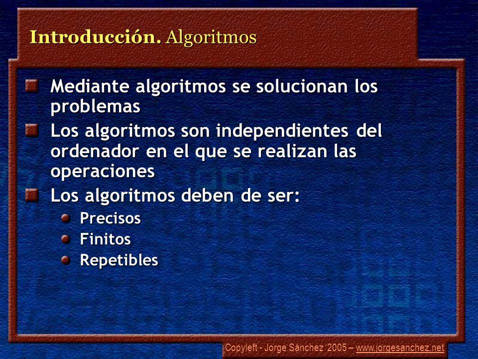 Copyleft - Jorge Sánchez 2005 – www.jorgesanchez.netwww.jorgesanchez.net Introducción.