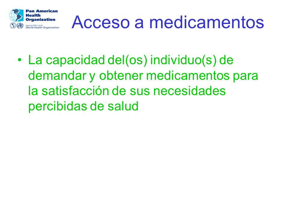 Acceso al cuidado, productos o acciones de salud Puntos de convergencia entre las definiciones de acceso: a)La simples disponibilidad de un servicio no configura acceso b)El acceso se concretiza con la utilización del servicio