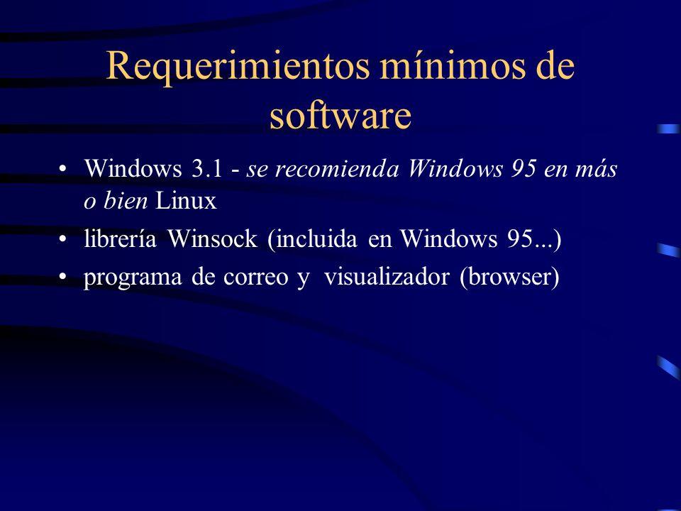 Requerimientos originales mínimos de hardware procesador 386 DX - se recomendaba Pentium... 4 MB de RAM - se recomienda bastante más entre 40 y 60 MB
