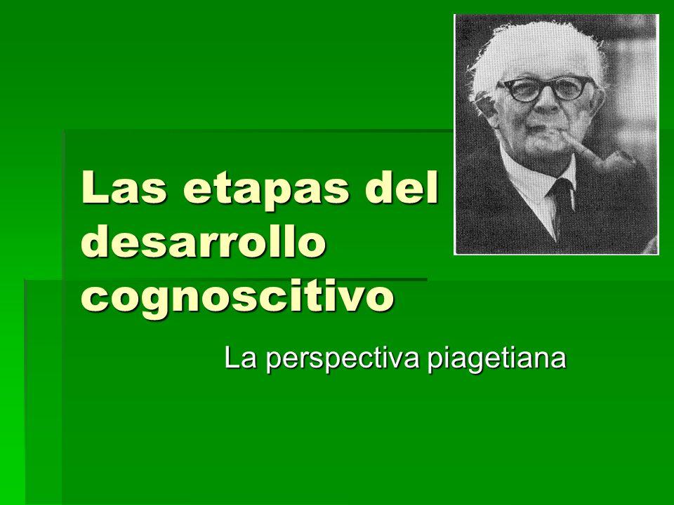 Las etapas del desarrollo cognoscitivo La perspectiva piagetiana