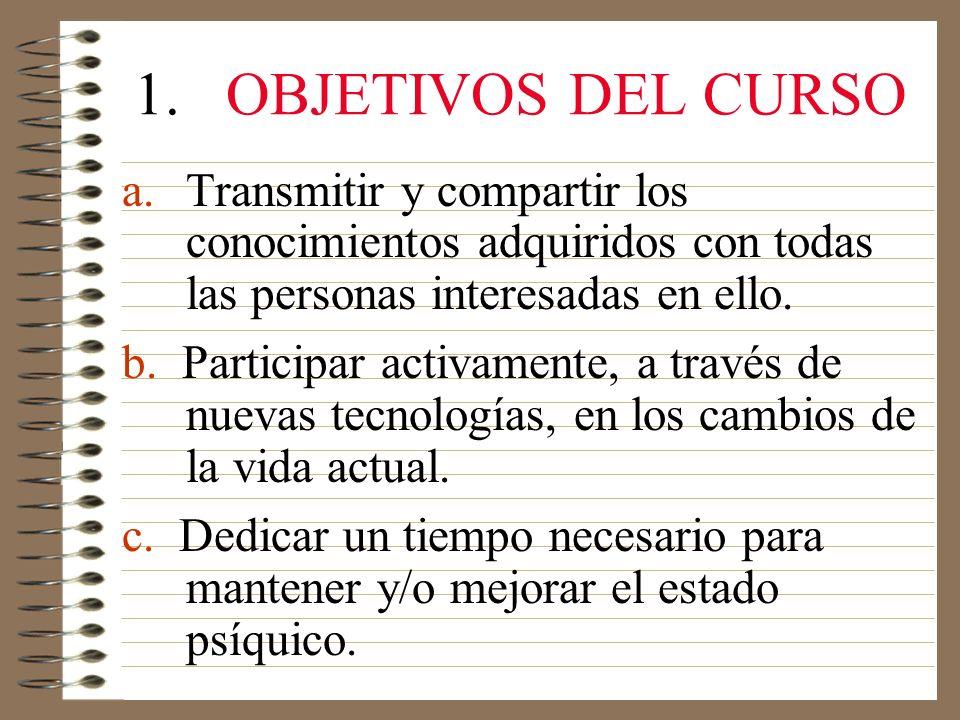 1.OBJETIVOS DEL CURSO a.
