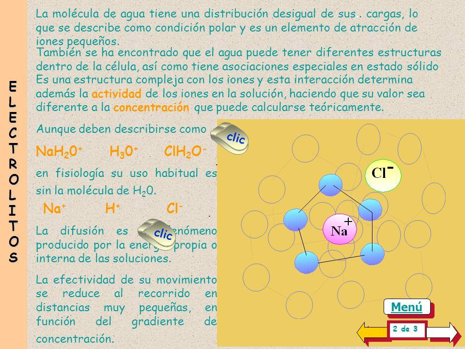 La molécula de agua tiene una distribución desigual de sus..