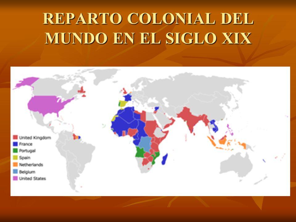 REPARTO COLONIAL DEL MUNDO EN EL SIGLO XIX