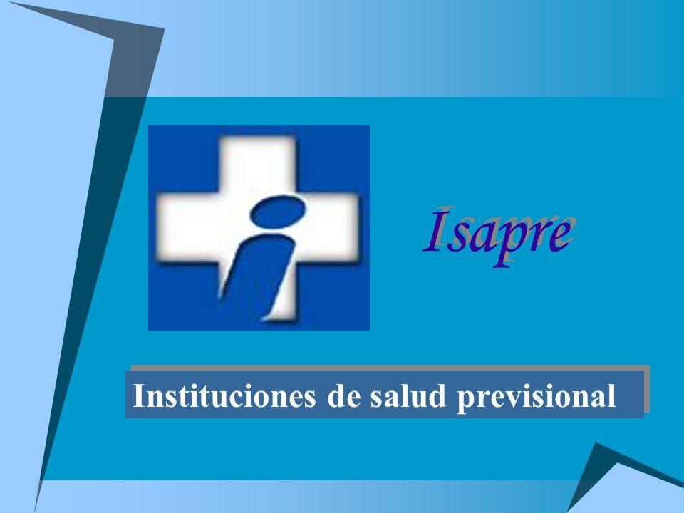 Isapre Instituciones de salud previsional