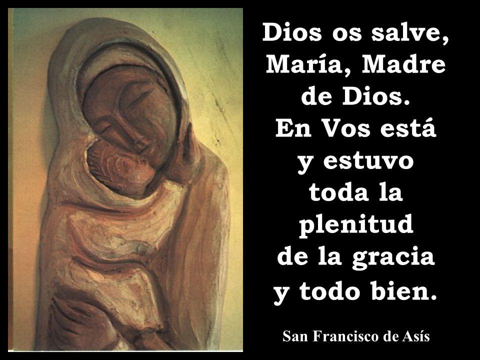 ¡Oh excelsa, oh piadosa, oh digna de toda alabanza Santísima Virgen Maria, tu nombre es tan dulce y amable que no se puede nombrar sin que el que lo nombra no se inflame de amor a ti y a Dios; y sólo con pensar en él, los que te aman se sienten más consolados y más inflamados en ansias de amarte! San Bernardo ¡Oh excelsa, oh piadosa, oh digna de toda alabanza Santísima Virgen Maria, tu nombre es tan dulce y amable que no se puede nombrar sin que el que lo nombra no se inflame de amor a ti y a Dios; y sólo con pensar en él, los que te aman se sienten más consolados y más inflamados en ansias de amarte! San Bernardo