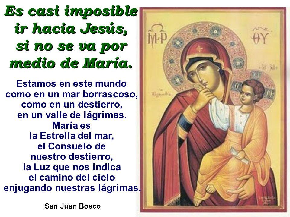 A María, nuestra Madre, le demostraremos nuestro amor trabajando por su Hijo Jesús, con Él y para Él.