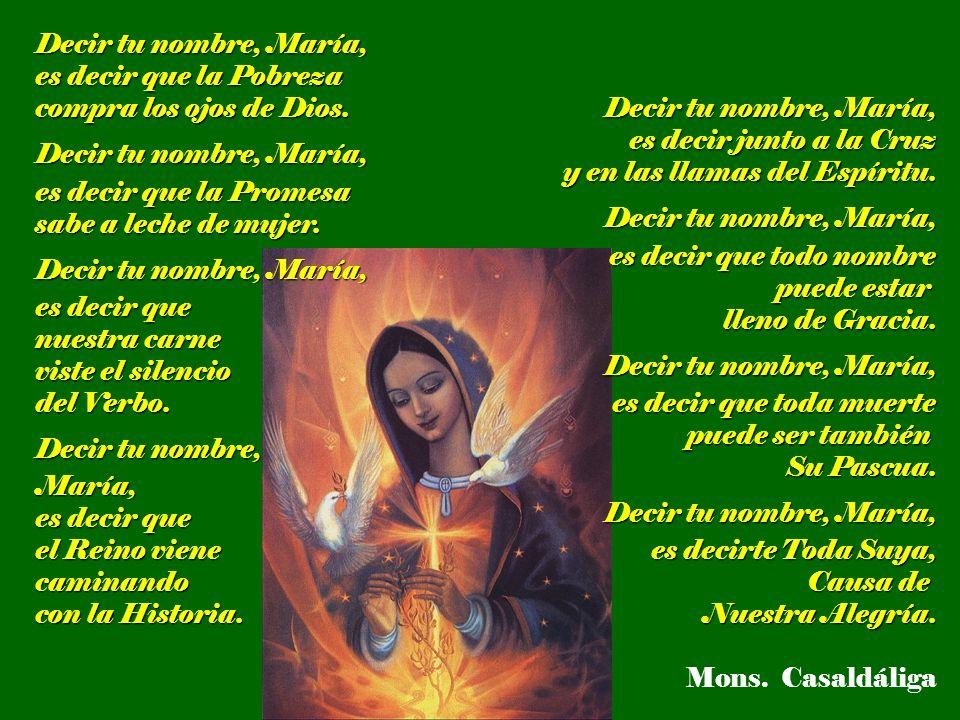 Los pobres están descubriendo la imagen de María que nos da el Evangelio.