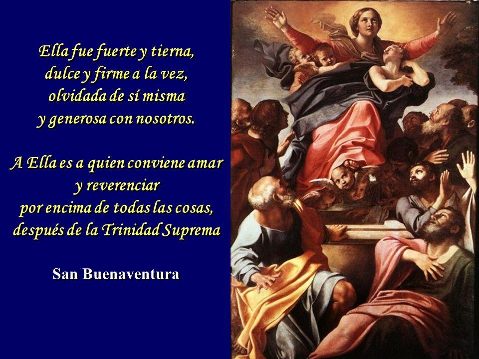 A la Virgen su Madre apareció primero que a todos, delante de ella con cara serena, más hermoso que los cielos, más glorioso que el paraíso y más alegre que todos los ángeles.
