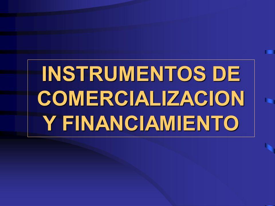 INSTRUMENTOS DE COMERCIALIZACION Y FINANCIAMIENTO