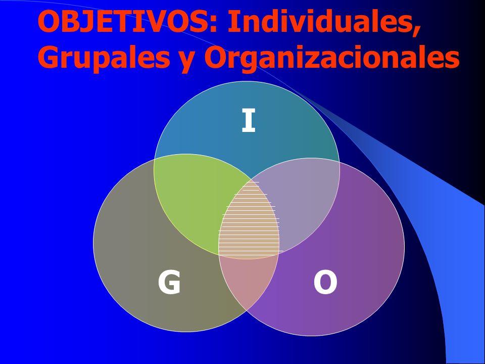 OBJETIVOS: Individuales, Grupales y Organizacionales I GO