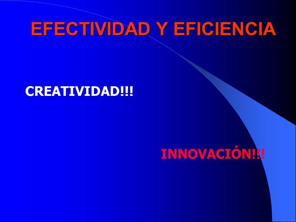 EFECTIVIDAD Y EFICIENCIA CREATIVIDAD!!! INNOVACIÓN!!!