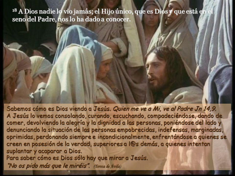 14 Y la Palabra se hizo carne y acampó entre nosotros; y hemos visto su gloria, la gloria propia del Hijo único del Padre, lleno de gracia y de verdad