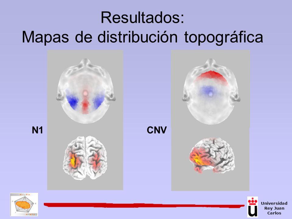 Resultados: Mapas de distribución topográfica N1CNV Universidad Rey Juan Carlos