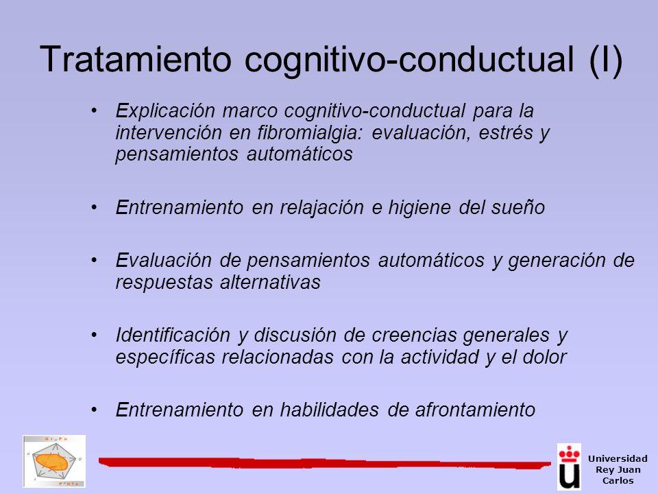 Tratamiento cognitivo-conductual (I) Explicación marco cognitivo-conductual para la intervención en fibromialgia: evaluación, estrés y pensamientos au