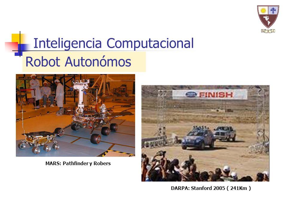 Inteligencia Computacional Robot Autonómos DARPA: Stanford 2005 ( 241Km ) MARS: Pathfinder y Robers