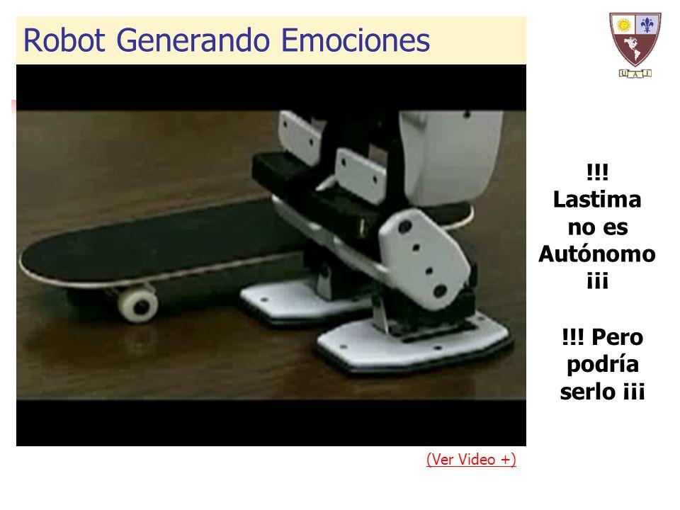 (Ver Video +) !!! Lastima no es Autónomo ¡¡¡ Robot Generando Emociones !!! Pero podría serlo ¡¡¡