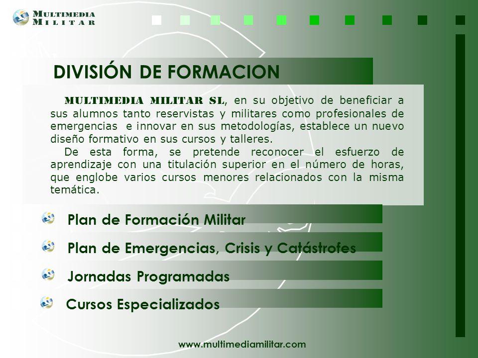 www.multimediamilitar.com DIVISIÓN DE PUBLICACIONES EDICIONES: - Libros - Publicaciones periódicas - etc. REVISTA: - Temática Militar y reservismo XXI