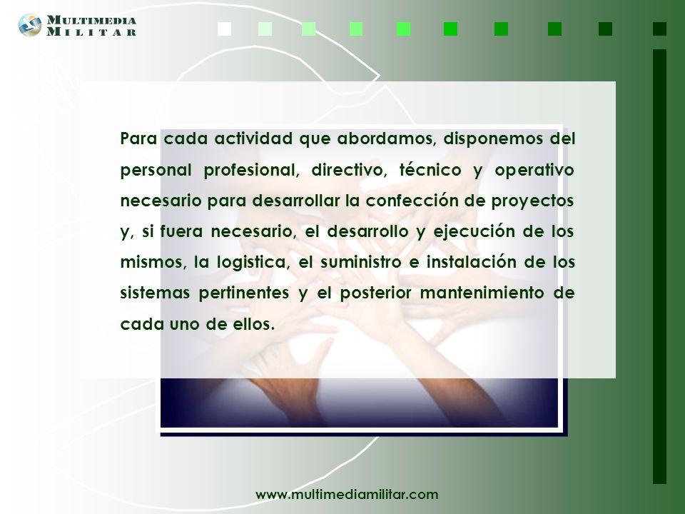 www.multimediamilitar.com Asesoramiento Técnico Especializado Multimedia Militar se pone a su disposición para ayudarle con cualquier plan o proyecto