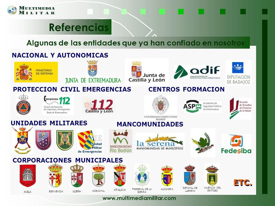 www.multimediamilitar.com Para cada actividad que abordamos, disponemos del personal profesional, directivo, técnico y operativo necesario para desarr