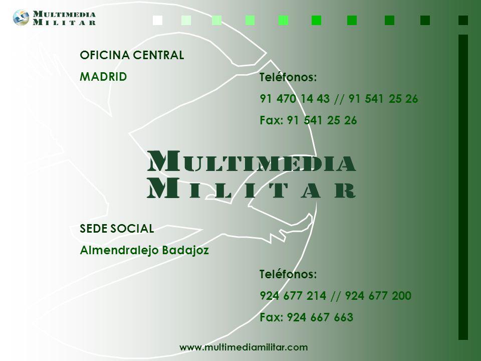 www.multimediamilitar.com Deseamos agradecerle su interés e invitarle a visitar nuestra página Web http://www.multimediamilitar.com Si necesita cualqu