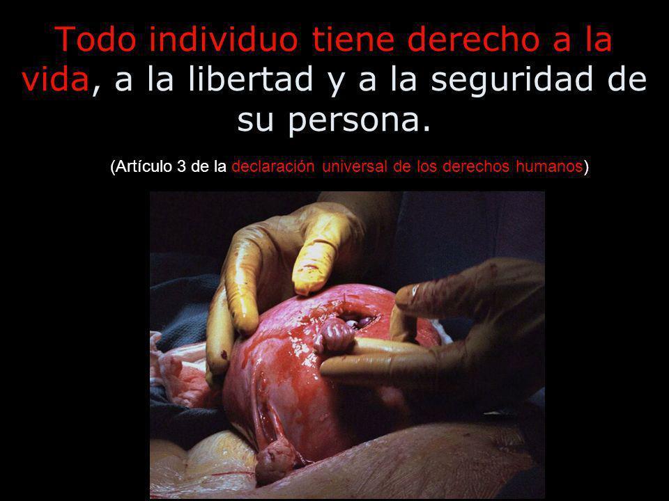 Todo individuo tiene derecho a la vida, a la libertad y a la seguridad de su persona.