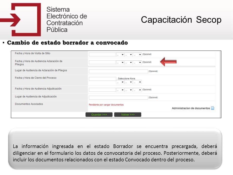 Cambio de estado Adjudicado a Celebrado Cambio de estado Adjudicado a Celebrado Para llevar un proceso de Adjudicado a Celebrado deberá hacer clic en el vínculo Agregar Contrato.
